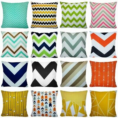Magnificent Multi Color Chevron Striped Throw Pillow Cover Sofa Couch Gmtry Best Dining Table And Chair Ideas Images Gmtryco
