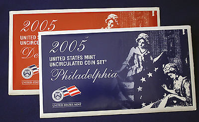 2005 UNCIRCULATED Genuine U.S. MINT SETS ISSUED BY U.S. MINT