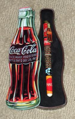 Coca-Cola Collector's Tin With Roller Ball Pen ~ New ~ Lot 5