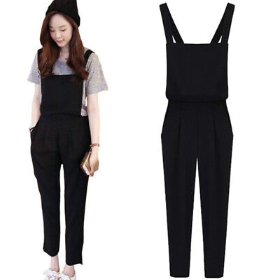 Women's Casual Overalls Jumpsuit Rompers Oversized Harem Trousers Jumpsuit USA