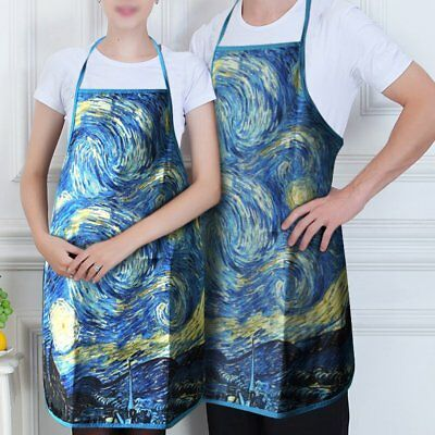 2X Van Gogh Starry  Apron Chef Kitchen Cooking Women Men Unisex Ladies Bib Work
