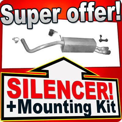 Rear Silencer AUDI A1 1.4 TFSi 2010-04.2015 Exhaust Box AJC