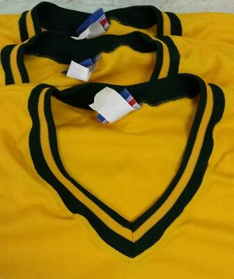 LeTrell Sports Jersey Size Large Lot of 3 Athletic Green Gold Jerseys
