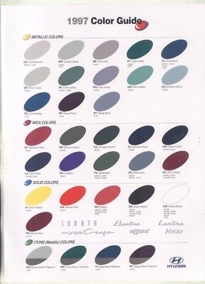1997 Hyundai Sonata Elantra Lantra Accent H100 Coupe Paint Color Brochure wz1590