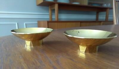 Pair 24K GP Footed Sake Cups Ex Cond great as trinket ring holder too!