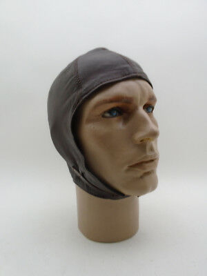 NEW AVIATOR HELMET Car Motorcycle Driving Convertible Endurance Leather Cap #2