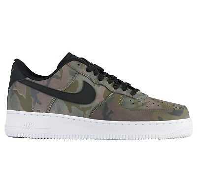 Nike Air Force 1 '07 LV8 Camo Mens 823511-201 Olive Sequoia Low Shoes Size 10