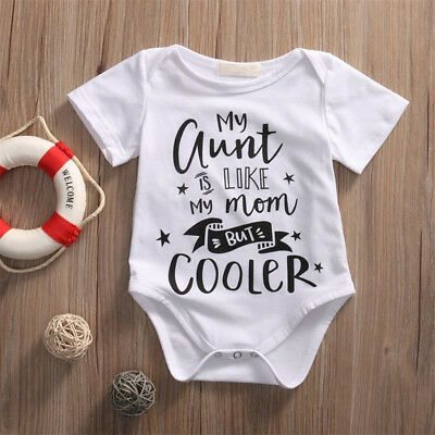 KQ_ Baby Letters Printed Boys Girls Star Romper One-Piece Bodysuit Jumpsuit Nove