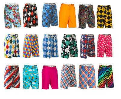 Golf Shorts by Royal and Awesome Funky & Loud Waist Size 30 32 34 36 38 40 42 44