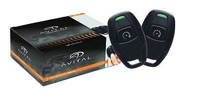 AVITAL 4115L 1-Button Remote Car Starter w 2 Remotes 4115 Avistart Replaces 4113