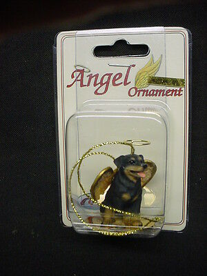 ROTTWEILER dog ANGEL Ornament HAND PAINTED Resin Figurine Statue Christmas puppy