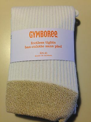 *NWT GYMBOREE* Girls Right Meow Soft Gold Sparkle Footless Tights Size XS 4