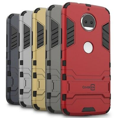 CoverON for Motorola Moto G5S Plus Case Hybrid Stand Armor Hard Phone Cover