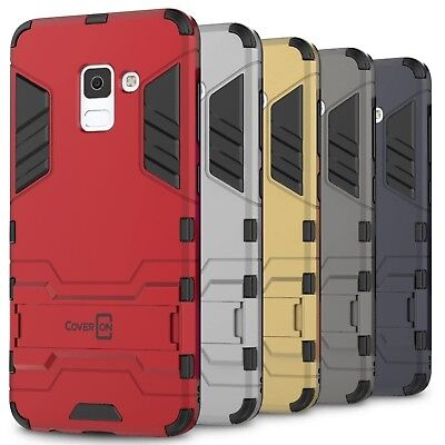 CoverON for Samsung Galaxy A8 Plus Case Hybrid Stand Armor Slim Phone Cover