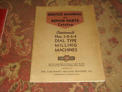 Cincinnati Service Manual & Repair Parts Catalog Nos. 1-2-3-4 Dial Type M-786-5