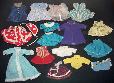 "Vintage 17 Pc Clone Clothes LOT 13"" Fashion Doll or Madame Alexander"