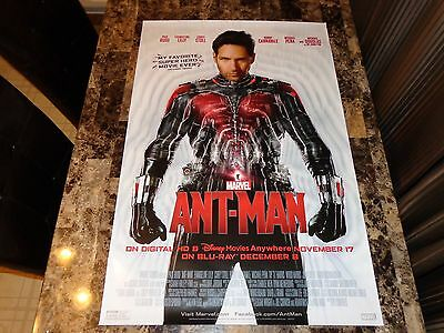 Ant-Man Rare Promo One-Sheet Movie Poster Marvel Paul Rudd Evangeline Lilly 2015