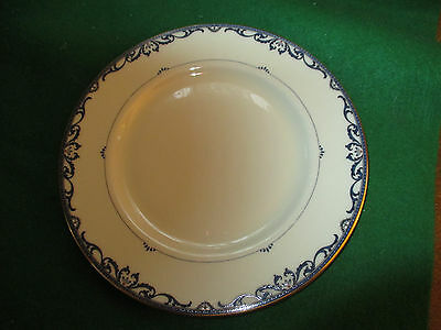 Lenox Presidential Collection Liberty 8 ½ In Salad Plate Cream Blue & Gold Rim