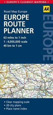 AA Road Map Europe Route Planner (Map), AA Publishing, 9780749575380