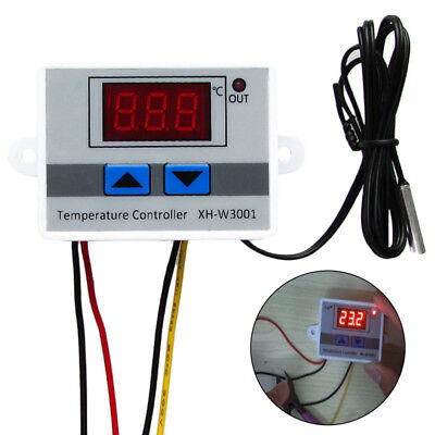 Digital LED Temperature Controller Thermostat Control Switch Probes 12V/24V/220V