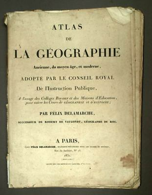 Cards Atlas Of The Geography Former Middle Age And Modern 1831 Delamarche