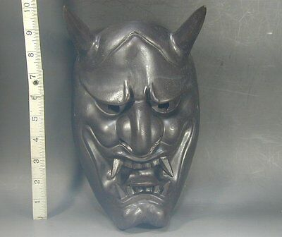 Hannya Mask 486 Vtg Horned Evil Demon Devil Oni Woman Japanese Noh Kabuki Kagura