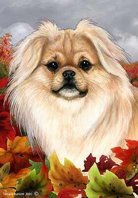 Garden Indoor/Outdoor Fall Flag - Cream Tibetan Spaniel 134751