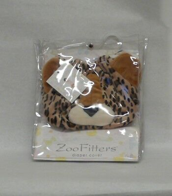 Plush LEOPARD DIAPER COVER Zoo Fitters 6-24 Months Adjustable Novelty Baby Gift