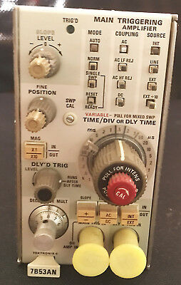 Tektronix 7B53AN Plug-In Mixed Sweep Dual Time Base 100 MHz 7000 Oscilloscope