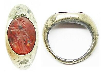 2nd century A.D. Ancient Roman Silver Intaglio Ring of Ceres Snettisham Type
