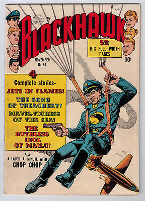 Blackhawk #34 4.0 1950 Off-White/white Pages
