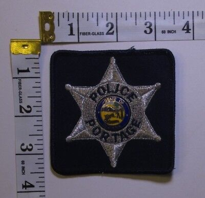 Portage Indiana Police Shoulder Patch With Lapel Pin