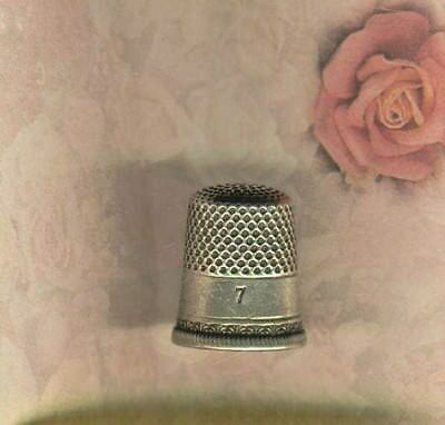 Size 7 Sterling Silver Thimble