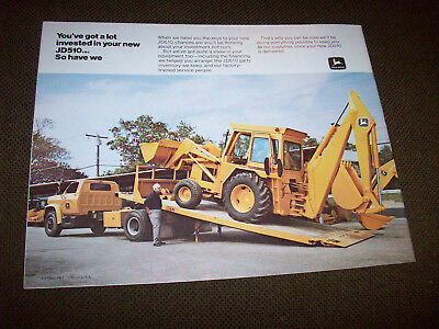 1973 John Deere JD310 Backhoe Loader Brochure