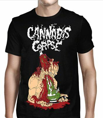 Cannabis Corpse Deathbong T-Shirt, Men's clothes,M,L, crossover thrash band