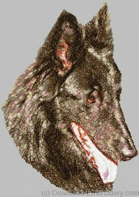 Large Embroidered Zippered Tote - Belgian Sheepdog DLE1481