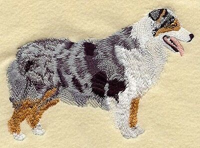 Large Embroidered Zippered Tote - Australian Shepherd I1240