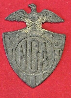 "Vintage Solid Brass NOA US Military Eagle 2"" Nameplate Badge Hardware"