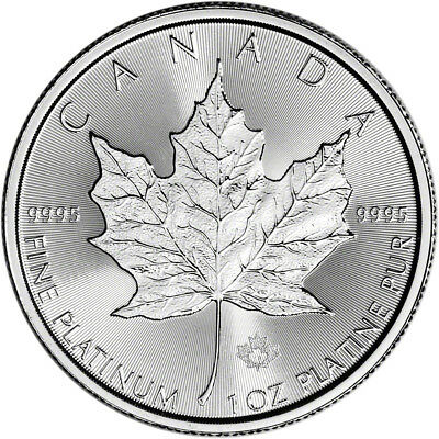 Canada Platinum Maple Leaf - 1 oz - $20 - BU - .9995 Fine - Random Date