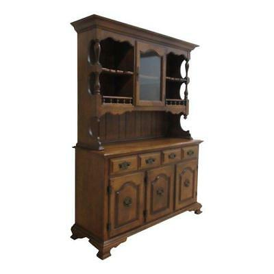 Keller Rock Maple Two Piece China Hutch Server Sideboard
