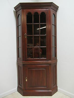 Pennsylvania House Cherry Chippendale China Cabinet Corner Cabinet Display