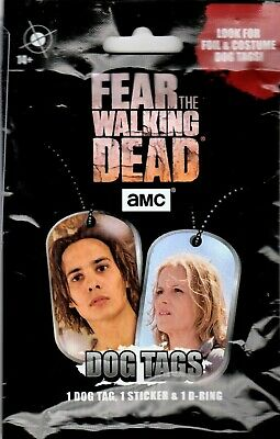 1-2017 AMC Fear The WALKING DEAD Authentic Worn Costume Dog Tag Relic HOT PACK!