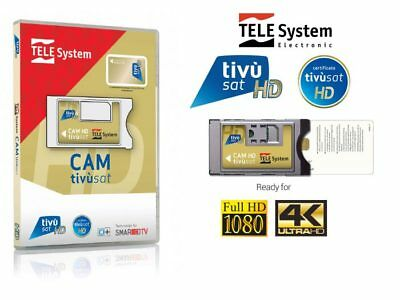 TivuSat TeleSystem HD 4K CAM and Card* Brand New
