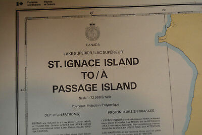 Lake Superior St Ignace Island to Passage Isl  Nautical Chart Map Canada  2302