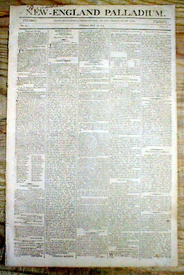 2 original 1803 newspapers NEGRO SLAVE REVOLT crushed at NEW ORLEANS Louisiana