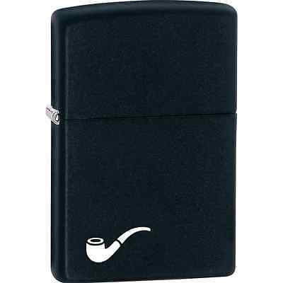 "Zippo ""Pipe Lighter"" Black Matte Lighter, ***Extra Flints & Wick*** 218PL"