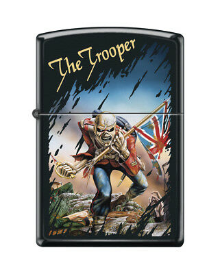 "Zippo ""Iron Maiden-The Trooper"" Black Matte Finish Lighter, Full Size,  3389"