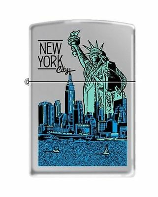 "Zippo ""Statue of Liberty-New York City"" High Polish Chrome Lighter, 4790"