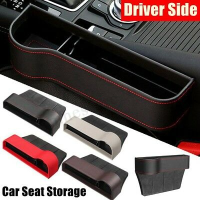 Leather Car Seat Crevice Gap Storage Box Cup Drink Holder Pocket Phone Organizer