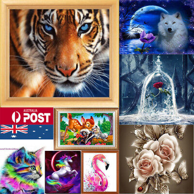 Drill DIY 5D Diamond Painting Embroidery Cross Craft Stitch Kit Decor Craft AU